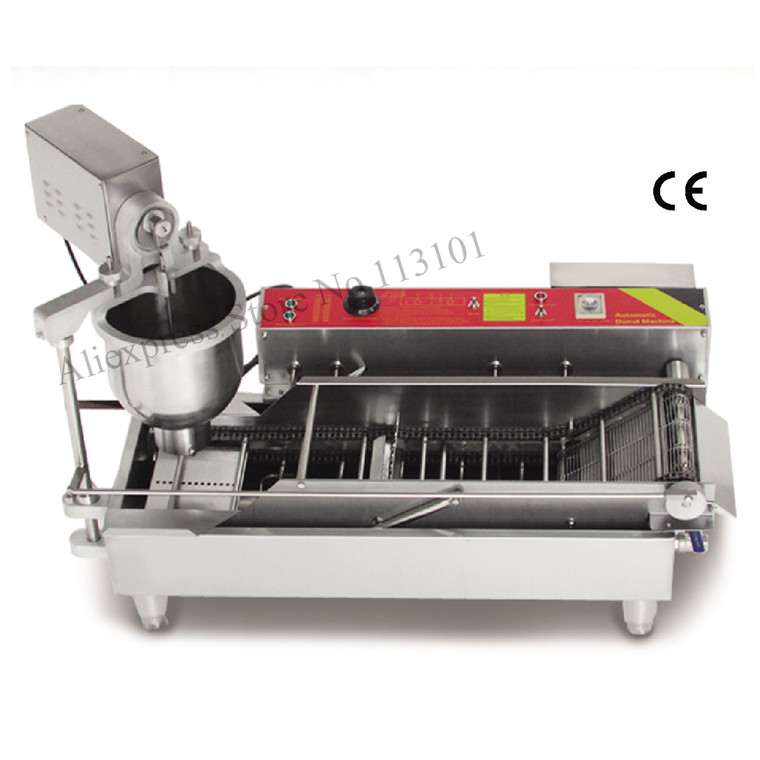 Automatic Donut Fryer Machine Electric Cake Donut Maker / Commercial Donut Machine for bakehouse restaurant catering industries automatic commercial plum donut baking machine cake sweet donuts maker
