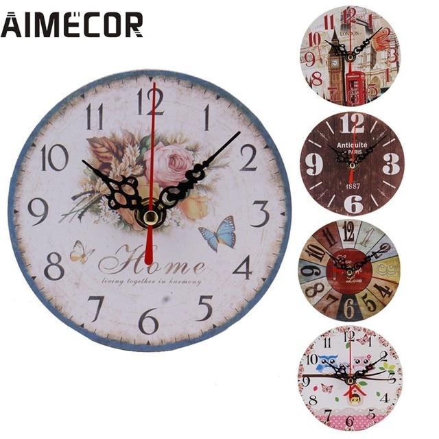 Tienda Online Estilo Vintage no-tictac silencioso Reloj de pared de ...