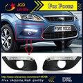 Бесплатная доставка! 12 В 6000 К СИД DRL дневного света для Ford Focus 2009 2010 2011 2012 Противотуманная Фара рамка Противотуманная Фара Супер белый