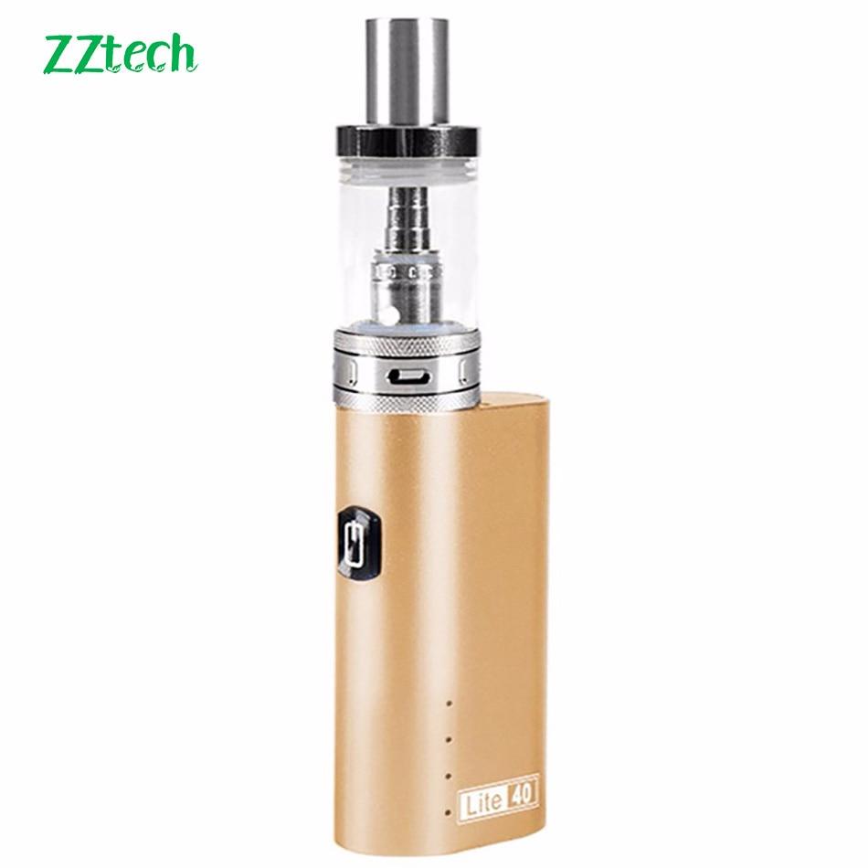 ZZtech cigarrillo electrónico Original lite40 0.5ohm vape kit 2200 mAh vape mod box lite 40 W 510 hilo 3,0 ml tanque vape Vapor Kit