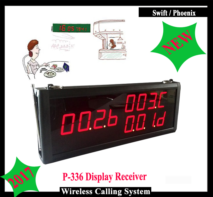Wireless Customer Service display for Waiter calling system for restaurant to work with call button 2017 new restaurant service equipment wireless waiter call bell system 1 watch 5 call button