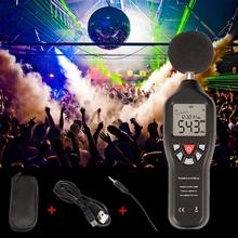 DHL 20 sztuk 30 do 130dB LCD cyfrowy poziom dźwięku miernik decybeli Tester hałasu narzędzia pomiarowe (kolor czarny) tanie tanio CKINNFON CN (pochodzenie) Description Show See Description