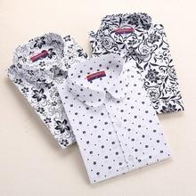 Feminine bodycon sleeves turn down blouses floral collar shirts shirt autumn
