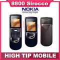 100% Original Nokia 8800s 8800 sirocco russian keyboard unlocked cell phone 128MB internal memory Singapore post Refurbished