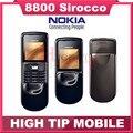 100% Original de Nokia 8800 s 8800 sirocco teclado ruso abrió el teléfono celular 128 MB de memoria interna poste de singapur reformado