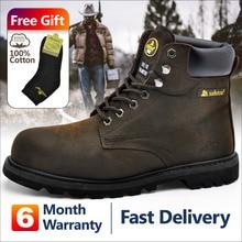 Safetoe/мужские рабочие ботинки, защитная обувь, кроссовки со стальным носком, цвет коричневый, очень широкий, телячья кожа, стальная пластина, средняя подошва, американский размер 4-13, SRC