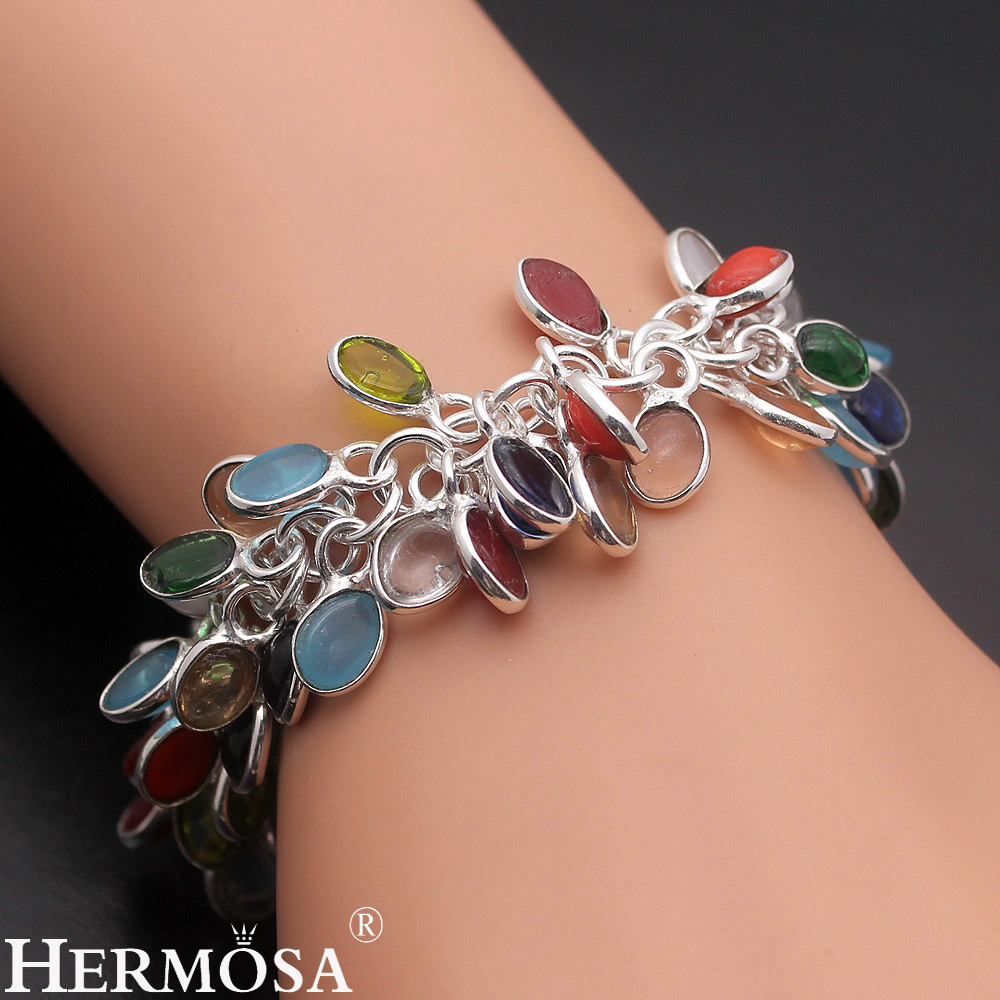 Exotic fashion jewelry - Aliexpress Com Buy Latest Hot Sale Colorful Chalcedony Exotic Fashion Lady Jewelry 925 Sterling Silver Bracelet Earrings Set Ny176 Free Shipping From