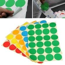 5 листов, перманентные клеящиеся наклейки, круглые точки, яркие цвета, набор этикеток, Новинка
