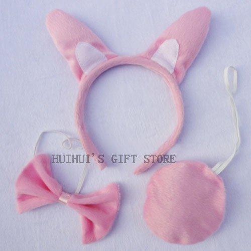 Набор животных(повязка на голову, галстук-бабочка, хвост)/Банни уха, повязка на голову, праздничный обруч/предметы для вечеринки/детский день