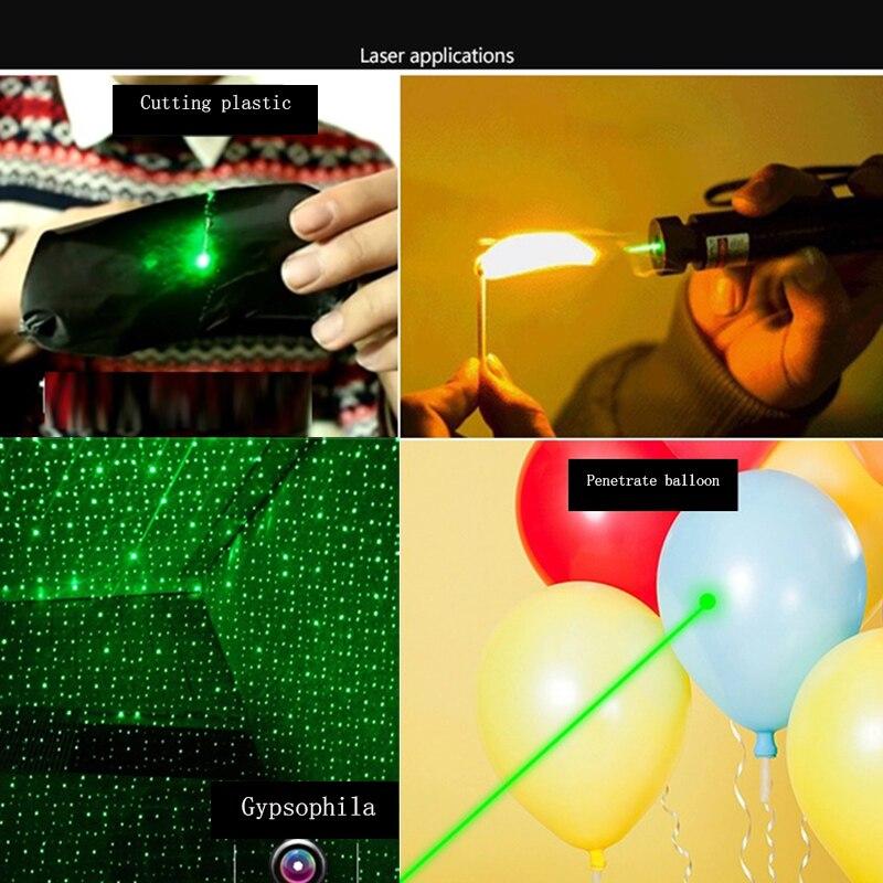Krachtige 532nm 5mW Groene SD Laser Pointer 303 Lazer Pointer verde - Jacht - Foto 6