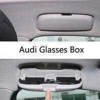 Car Styling Sunglass Case Storage Holder Auto Accessories For Audi A1 A3 A5 A4 A6 A7 A8 S3 S4 S5 S6 S7 Q3 Q5 Q7 TT Glasses Box