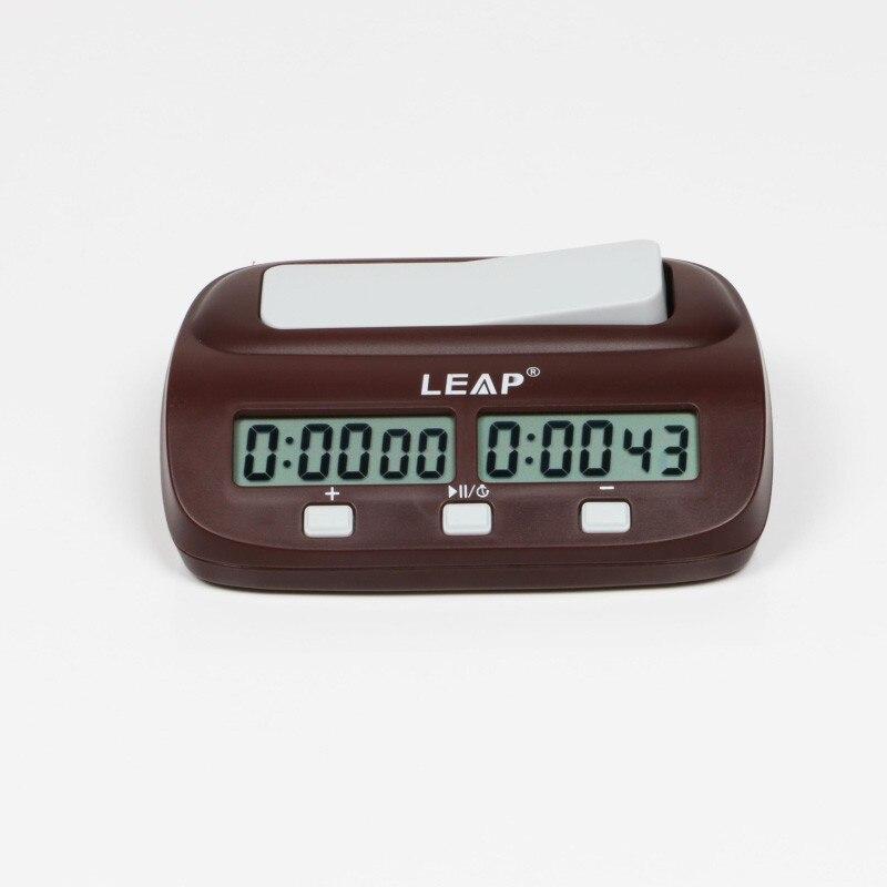 Leap xadrez relógio digital contagem profissional gamão