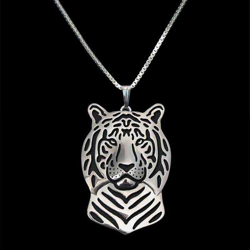 Hot Sale Jewelry Animal Tiger Shaped Necklaces Tiger Head Pendant Necklaces For Women Drop Shipping