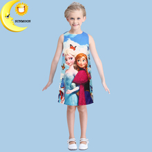 New arrive elsa princess dress fashion font b kids b font dresses for girls spring summer