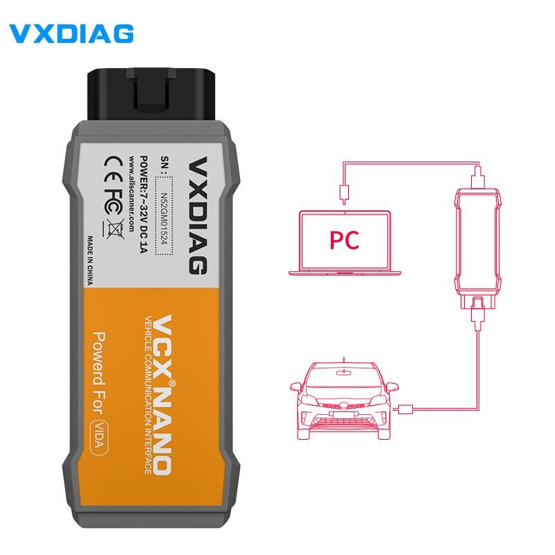 Original VXDIAG MULTI-DIAGNOSEPROGRAMM Für Volvo Diagnose Werkzeug VXDIAG VCX NANO Für Volvo Vida Würfel 2014D USB OBDII Diagnose-Scanner