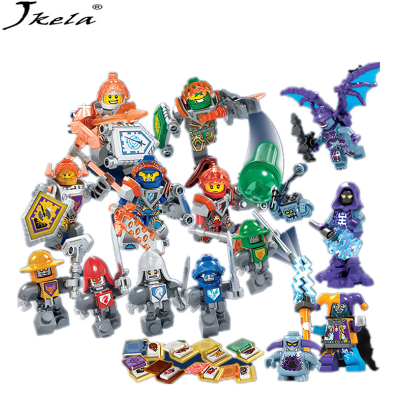 [Jkela] 8pcs/lot Nexo Legoings Knights Future Shield Building Blocks Castle Warrior Nexus Kids Toy Gift Compatible With Legoing