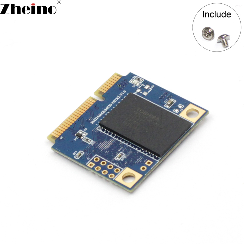 Zheino Half mSATA 64GB SSD Half Size mSATA 256GB 128GB 2D MLC SATA3 Internal Solid State Drive for PAD Laptop Tablet Mini Pc