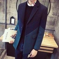 mens trench coat jacket men winter coats Business Casual long jacket men Slim fit