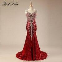 modabelle Women Evening Dress Luxury Beaded Crystal Robe Dubai Soiree Bling Bling Mermaid Party Gown Formal Dress 2018 Custom