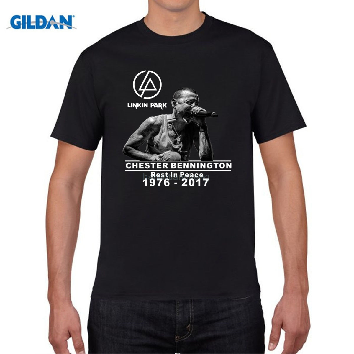 GILDAN pure cotton round collar T-shirt 2018 Linkin Park R.I.P Chester Fans Club Casual Men/Women Short Sleeve T Shirt