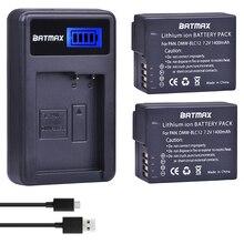 2Pcs DMW BLC12 DMW BLC12E BLC12 Battery + USB LCD Charger for Panasonic Lumix DMC FZ200,FZ300,FZ1000,FZ2500,G5,G6,G7,GX8,G85