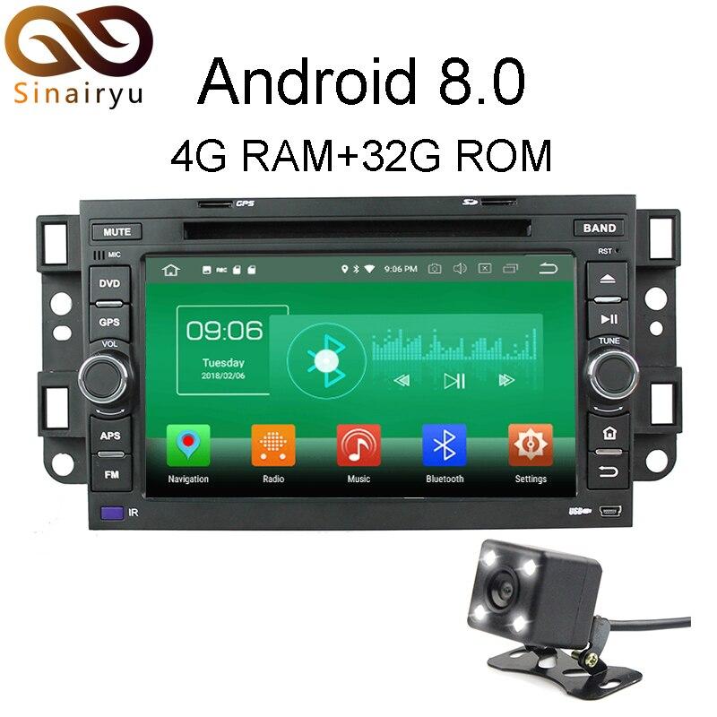 Sinairyu 4 г Оперативная память Android 8.0 автомобильный DVD для Chevrolet Aveo EPICA CAPTIVA 2004-2011 Octa core 32 г встроенная память Радио GPS плеер головное устройство