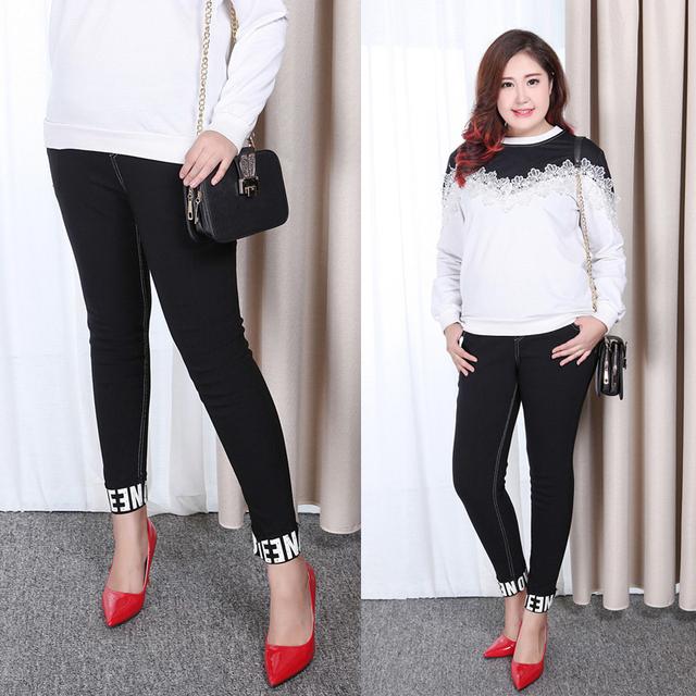 Llegó el nuevo invierno Leggings Moda mujer Espesar Elasticidad todo a juego pantalones de cintura Alta pantalones Lápiz de Gran tamaño negro