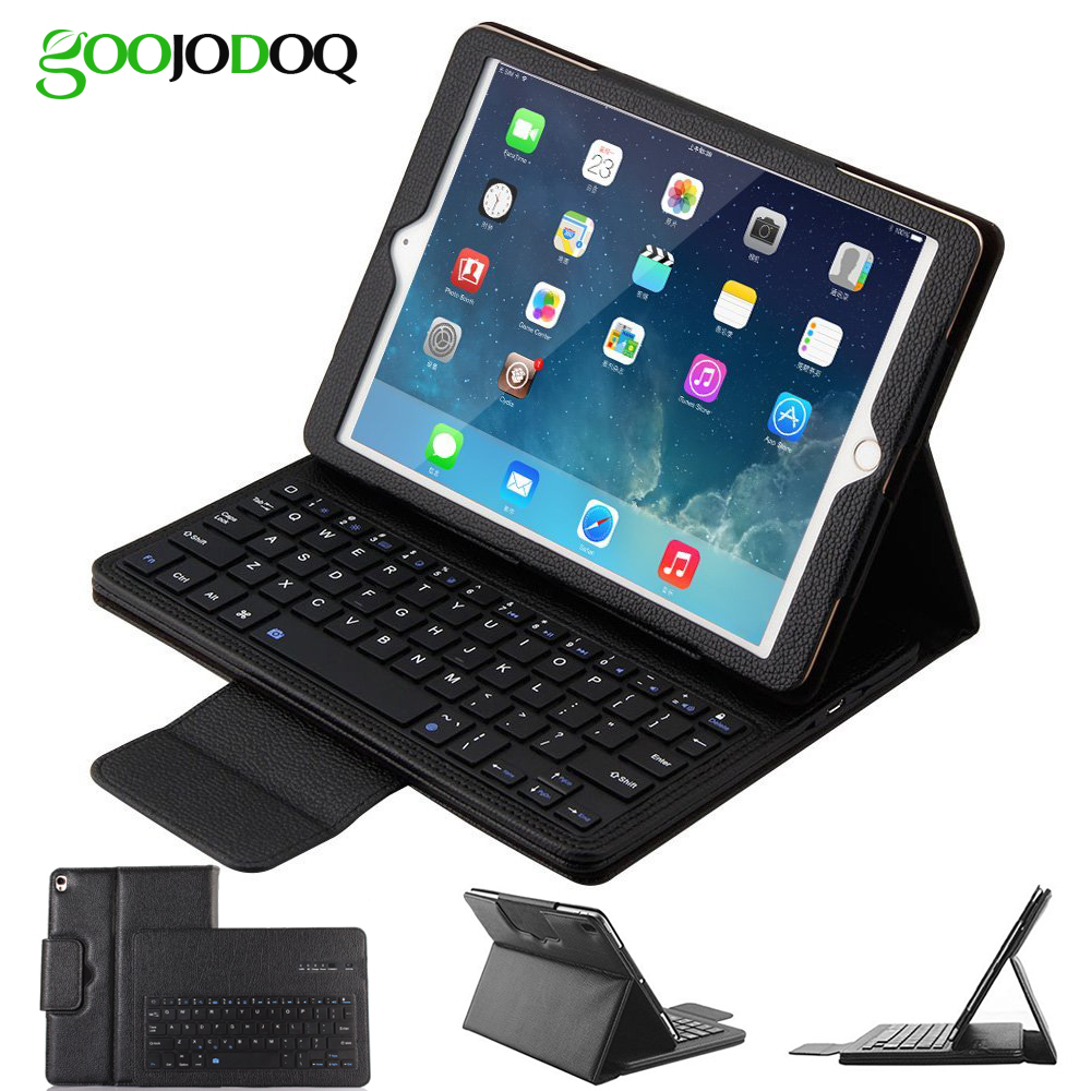 Keyboard Case for iPad Pro 10.5 A1701 A1709 PU Leather Folio Smart Cover for iPad 2017 Case Pro 10.5 with Bluetooth Keyboard tablet cover for ipad pro 10 5 inch detachable bluetooth keyboard case for 2017 ipad 10 5 a1701 a1709 stand cases