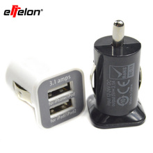 New Dual USB Port 5V 3.1A Car Charger for iPad, Tablet PC all mobile phones free shipping