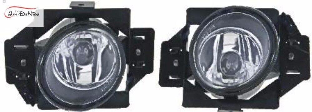 JanDeNing Car Fog Lights  For Nissan Livina 2007 Clear Front Fog Lamp Light  Replace Assembly kit  (one Pair) 12v 55w car fog light assembly for nissan sunny sent 2004 2005 2006 2007 2008 front fog light lamp with harness relay fog light