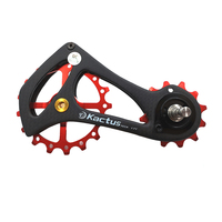 KACTUS 17T Bicycle Rear Derailleur Guide Pulleys Wheel Bike Carbon Fiber Jockey Wheel Ceramic Bearing For SRAM ETAP Bike Parts