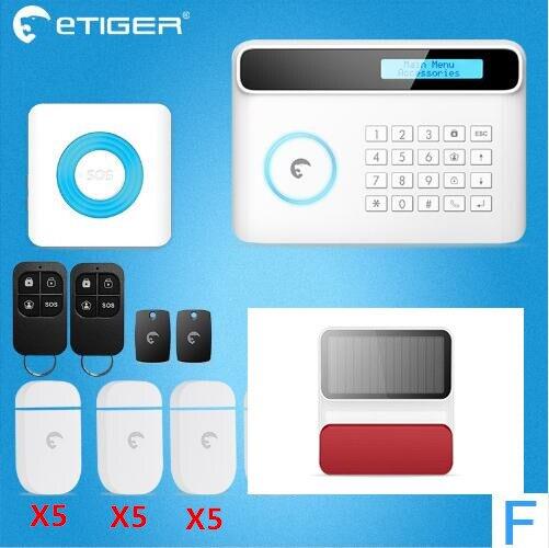 DHL livraison gratuite écran LCD Etiger S4 alarme système d'alarme GSM rapport SMS système d'alarme de sécurité à domicile avec menu multilingue