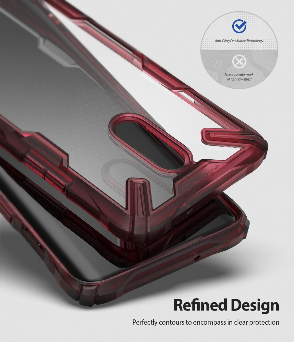 Ringke Fusion X for Oneplus 7 Case Dual Layer PC Clear Back Cover and Soft TPU Frame Hybrid Heavy Duty Drop Protection