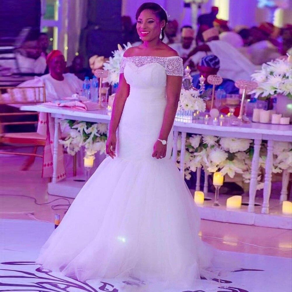 Robe De Mariage 2017 African Mermaid Wedding Dress Aso Ebi Style