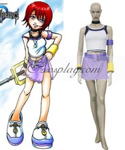 Japanese Anime Outfit Kingdom Hearts 1 Kairi Cosplay Costume E001