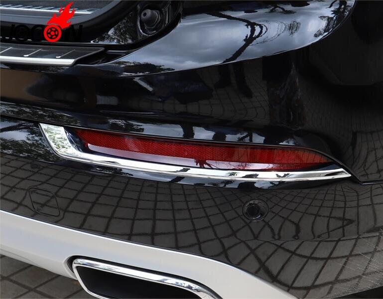 ABS Chrome Rear Fog Light font b Lamp b font Cover Trim Frame Stripe For VOLVO