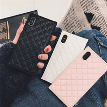 Luxury Phone Case For iphone X New Square Fashion Solid Color High Quality 7 7plus 8 8plus 6 6s 6plus