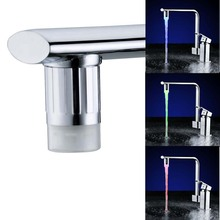 New Arrival!Temperature sensor Led Faucet for Bathroom Kitchen Faucet Spouts 23.5mm RGB Led Watertap with adapter Perfect Gift