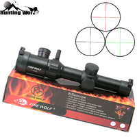 Tactical 1 4x20 Red Green Illuminated Riflescope Range Finder Reticle Optical Sight for Hunting Rifle scope