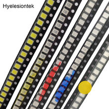 цена на 100pcs 2835 SMD LED Diodes Assortment Light Emitting Diod SMD 2835 LED Diodo Lampada Bead Bright RED Green Blue White Yellow