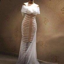 Echt Illusion Perlen Nixe-abschlussball 2016 Vestidos Sexy Transparent Abendkleider Luxus Dubai Kleid Robe De Soiree