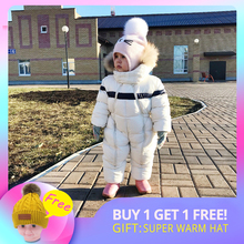 IYEAL Newest Winter Children Baby Clothes Hooded Natural Fur Thicken Warm Rompers Kid Boy Jumpsuit Infant Girl Snowsuit Outwear цены онлайн