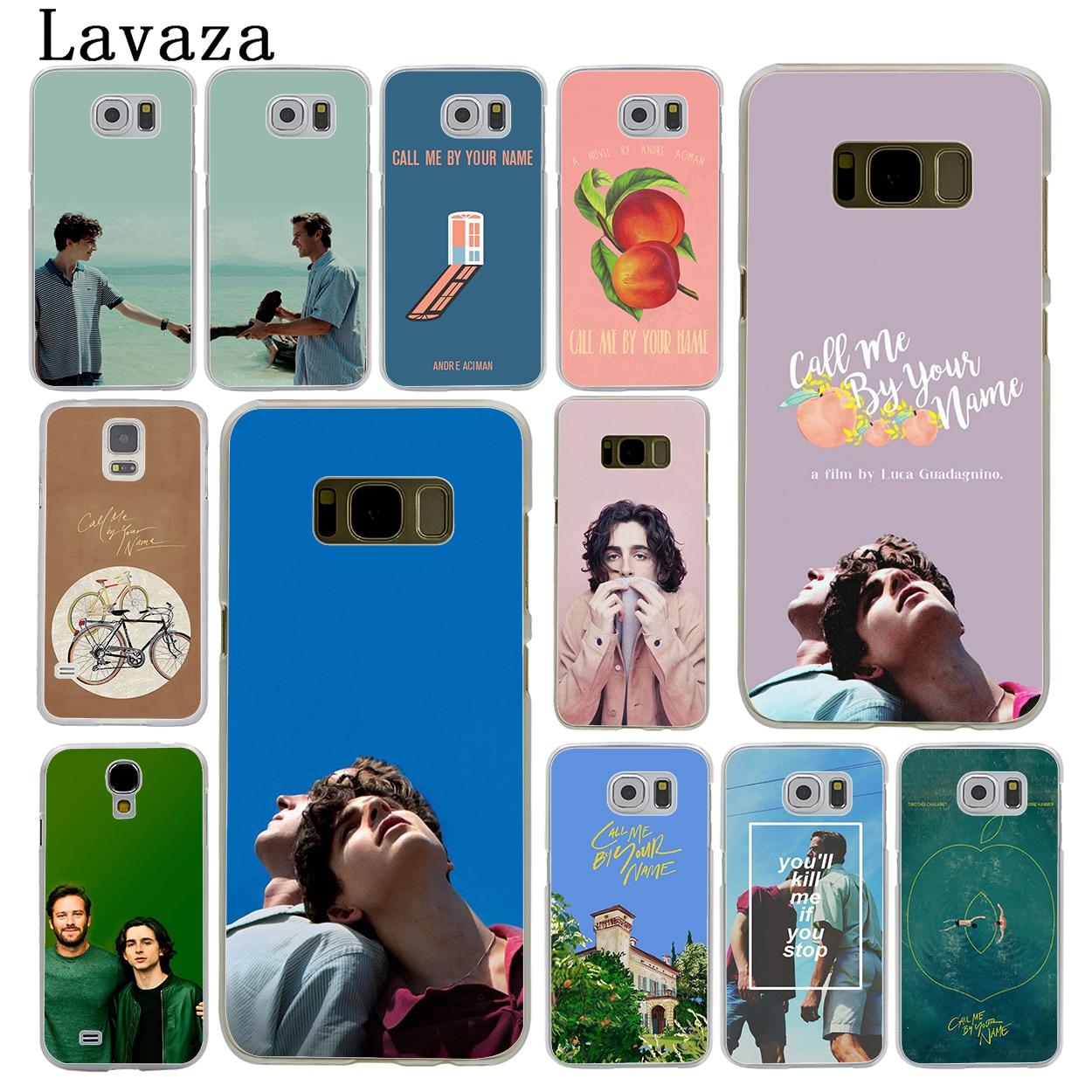 Lavaza Call Me на Ваше имя жесткий кожи телефон чехла для samsung Galaxy S7 S6 край S3 S4 S5 и мини S8 S9 плюс крышка