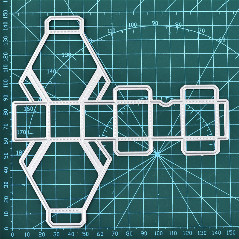 DiyArts Box Metal Cutting Dies Stitched DIY Scrapbooking Christmas Craft Embossing Die Cut Making Stencil Template New 2019 in Cutting Dies from Home Garden