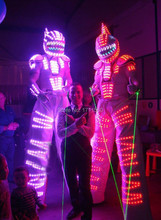 LED robot Costume /led lights costumes/LED Clothing/Light suits/ LED Robot suitst/ david robot