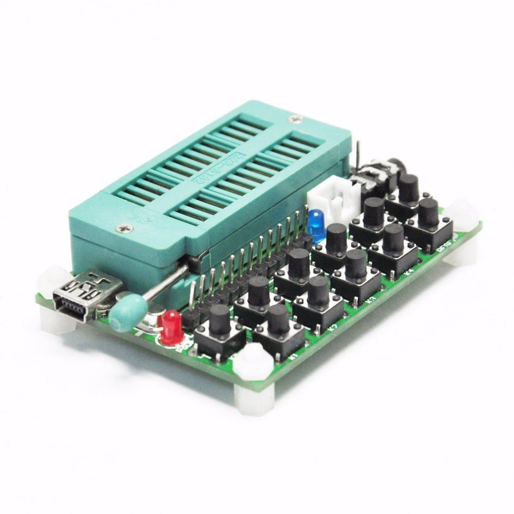 WT588D USB Audio Burner Voice Programmer Downloader VoiceChip WT588D-16P 28p stm8s 8l tssop20 burning holder test bench downloader offline programmer seat