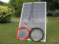 DE stock , no tax, 100w 18v solar panel & 5m red & black extension cable MC4 connector Off grid, for 12v /24v system