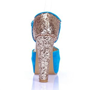 Image 4 - Sınırlı Yeni Gladyatör Sandalet Kadın Tenis Feminino Büyük Boy 32 43 peep toe Yüksek Topuklu düğün parti ayakkabıları kadın Pompaları 171