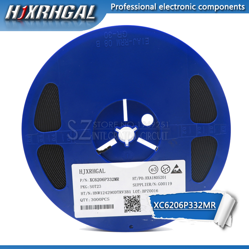 1Reel 3000pcs XC6206P332MR(<font><b>662K</b></font>) 3.3V/0.5A Positive Fixed LDO <font><b>Voltage</b></font> <font><b>Regulator</b></font> SOT-23 new and original hjxrhgal image