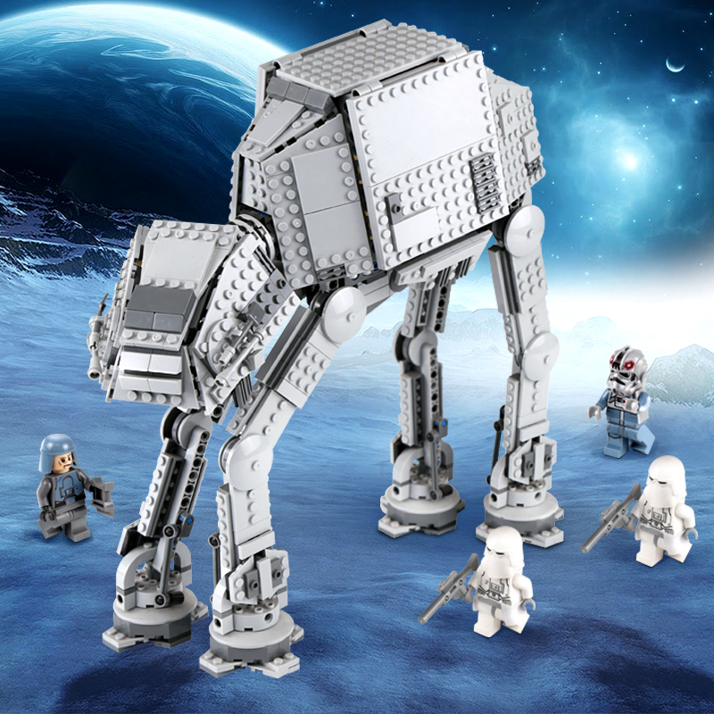 Lepin 05051 Star The Force set Awakens AT Model Wars Building Blocks Bricks Action Compatible legoinglys 75054 Birthday Kid Toys star wars droid escape pod 75136 building blocks set bricks toys the force awakens toy compatible with